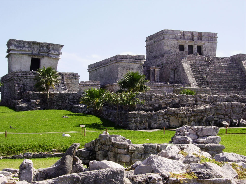 A rare example of Mayan architecture